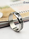 Ring,Band Rings,Jewelry Alloy Black / Silver Men