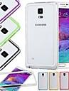DF красочный среднего прозрачный ТПУ + PC бампер для Samsung Примечание 4 (ассорти цветов)