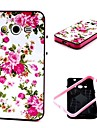 2-in-1 Pink Rose Peony  Pattern TPU Back Cover with PC Bumper Shockproof Soft Case for Samsung Core 2 G355H