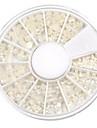 mixte taille en demi-cercle blanc perle nail art décorations