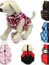 Cat Dog Coat Vest Dog Clothes Casual/Daily Camouflage Bowknot Ruby Green Blue Blushing Pink Red/White