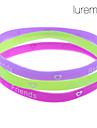 lureme®3 штук дружба красочные Силиконовая браслет