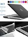"""Hat-Prince 3 in 1 Protective Case with TPU Keyboard Film and Anti-dust Plugs for MacBook Pro 13.3"""" / 15.4"""""""