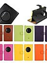 Super couro genuíno caso estande lanço para nokia lumia 1020 (cores sortidas)