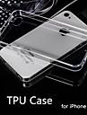 hot venda ultra fino estilo estojo flexível transparente TPU para iPhone 4 / 4S (cores sortidas)