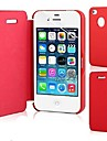 용 아이폰5케이스 플립 / 마그네틱 케이스 풀 바디 케이스 단색 하드 인조 가죽 iPhone SE/5s/5