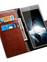 용 소니 케이스 카드 홀더 / 지갑 / 스탠드 / 플립 케이스 풀 바디 케이스 단색 하드 인조 가죽 용 Sony Sony Xperia Z2 / Other