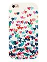 coloré motif cas de retour de coeur pour iPhone 4 / 4S
