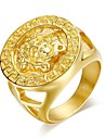 Anéis,Anéis Statement,Jóias Chapeado Dourado Casamento / Pesta / Diário / Casual / Esportes Dourado7 / 8 / 9 / 10 / 11 / 12 Masculino
