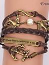 Для вечеринок/Повседневные - Wrap Браслеты/Кожаные браслеты ( Сплав/Кожа )