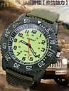 мужская супер световой лицо холст ремень нейлона кварц Спорт Военная наручные часы (разных цветов)