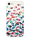 padrão de coração colorido de volta caso para iphone 6