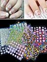 50 Autocollant d'art de clou Bijoux pour ongles Autocollants 3D pour ongles Adorable Maquillage cosmétique Nail Art Design