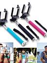 extensible poche monopode Selfie bâton pour iPhone / iPad et d'autres (couleurs assorties)