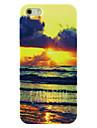 cas dur de modèle de plage carpe diem de coucher du soleil pour iphone4 / 4s
