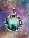 Eruner®Handmade Fashion Women's Pretty Galaxy Glass Dome Cabochon Pendant Necklace