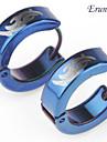 Eruner®Men's Titanium Steel Totem Earring (Blue)