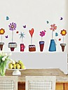 Wall Stickers Wall Decals Flower Pot Style Decorative Sticker