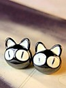 Women's Stud Earrings Cute Style Gold Plated Animal Shape Cat Jewelry For Wedding Party Daily Casual