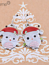 Lureme®Christmas Enamel Owls Earrings