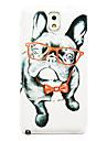teste padrão do cão óculos fina cobertura caso difícil para Samsung Galaxy Note 3