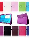 Для Кейс для  Samsung Galaxy со стендом / Флип Кейс для Чехол Кейс для Один цвет Искусственная кожа Samsung Tab 4 10.1