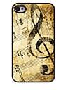 caso difícil de música retro design padrão de alumínio para iPhone 4 / 4S