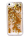 Golden Setting Heart like Sandglass Pattern Plastic Hard Case for iPhone 5/5S