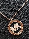 Fashion MK Letters Pendant Golden Alloy Pendant Necklace(1 Pc)