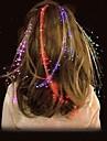 LED Aglimmer Glowing Flash Hair Braid Novelty Party Festivel Decoration
