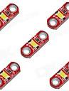 hzled 5V 40mA 3000k 400-500mcd теплый белый мини-3000k Светодиодный модуль - красный (5 шт)