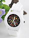 женский цветок поверхность силикона студня смотреть кругу китайское движение часы (разных цветов)