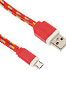 USB 2.0 Micro USB 2.0 Tressé Câble Pour 90 cm Nylon