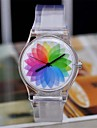 Women's Magic Color Transparent Plastic Watch Circular High Quality  Watch Cool Watches Unique Watches