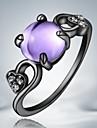 Кольца Повседневные Бижутерия Сплав Женский Массивные кольца8 Черный