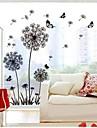 ботанический Наклейки Простые наклейки Декоративные наклейки на стены,Винил материал Съемная Украшение дома Наклейка на стену