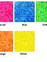 eruner®600pcs ткацкий станок полос стиль прозрачный цвет мода ткацкий станок резинку (CLIP 1package S)
