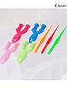 baoguang®2pcs у ткача и крюк для цветов радуги ткацкий станок (случайные цвета)