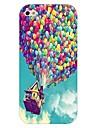 padrão balão fogo caso de volta duro para iPhone 4 / 4S