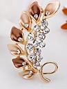 패션 다이아몬드 합금 브로치 (1 개)를 잎