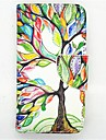 Happy Tree Pattern PU Leather Full Body Cases With Card Slot and Stand for S4 Mini I9190