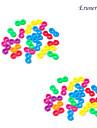 baoguang®24pcs arc en ciel coloré couleur métier crochet