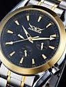 6 mains mécaniques automatiques inoxydable S. White Men Dial montre-bracelet