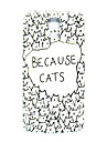 Cartoon Cat Pattern Thin Hard Case Cover for Samsung Galaxy S5 I9600