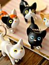사랑스러운 실리콘 작은 고양이 키 체인 (모듬 색상)