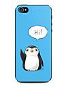 caso difícil padrão bonito do pinguim para iPhone 4 / 4S