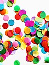 """2500 шт 2/5 """"(1 см) круглый многоцветная папиросной бумаги конфетти для украшения день рождения"""