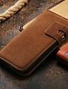 portefeuille de luxe étui en cuir pour la dernière couverture de stand pour Samsung Galaxy i9500 (couleurs assorties)