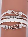 pulseiras eruner®leather liga leve de múltiplas camadas de amor e gato encantos sutiã handmade infinito