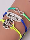 eruner®1 шт мода жизнь дерево верить и бесконечные модели brecelets (случайные) вдохновляющие браслеты
